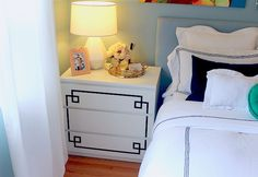 mint love social club: {nightstand makeover with ikea overlays}