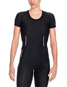 Skins A200 Short Sleeve Compression Top. Skins unique body mass index sizing and flattering lines give you a comfortable fit and slimmer silhouette. #dansbasketball #basketball #skins #a200 #compression #afflink #fashion