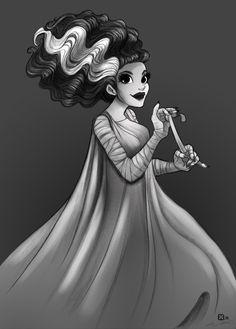 Bride of Frankenstein Rockabilly | Cute)Maybe, I should get Bride of Frankenstein tattoo? Not from this ...