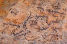 Un cèrvol a una de les pintures rupestres de Capçanes