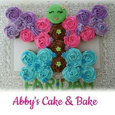 Butterfly cupcake cake , pull a part butterfly  cake