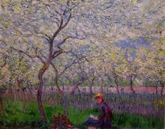 Claude Monet (French, 1840-1926): An Orchard in Spring, 1886