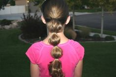 Bubble Ponytail {Princess Jasmine hair from Aladdin}