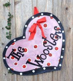 Valentines Day Heart Door Wreath....Personalized