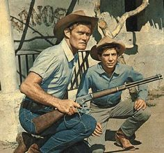 Lucas McCain and Josh Randall, popular Western characters on TV in the late 1950's and early 1960's..  It was a western.