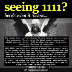 Meanings behind angel number 1111... http://numerologysecrets.net/numerology-1111-meaning/