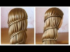 Coiffure avec tresse ❀ Tuto coiffure cheveux longs / mi long ❀ Braided hairstyle - YouTube