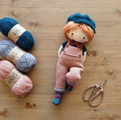 Ravelry: Norman pattern by Aikaterini Nikolaidou Crochet Fabric, Love Crochet, Crochet Dolls, Crochet Baby, Knit Crochet, Baby Patterns, Crochet Patterns, Harry Potter Crochet, Easy Crafts To Make