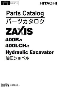 Hitachi Hydraulic Excavator Zaxis 200-3, 240-3, 270-3