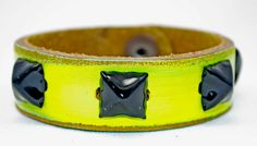 Studded Petite Cuff by LeatherCoutureLV on Etsy, $45.00