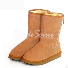 Bottes Fourrées-BGG neige bottes style classique élégant dans le tube en bottes