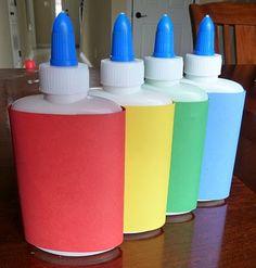 diy shimmery puff paint = 1/4c flour + 1/4 cup salt + 1/4 c water + color