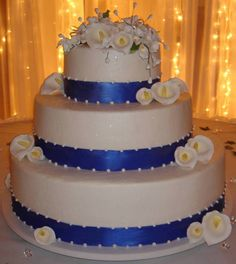 buttercream cake with a little blue