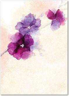 awesome Watercolor tattoo - Soft Bougainvillea Watercolor Design Wedding Invitations in Purple, Green or Blue