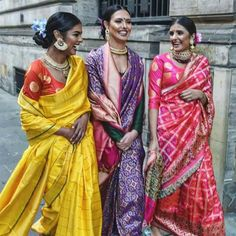 Ayush Kejriwal, an UK based Indian designer, designs sarees with stories of the past using vibrant colours. His love for craft forms is clearly visible too. India Fashion, Ethnic Fashion, Asian Fashion, Fashion Online, Women's Fashion, Indian Bridal Wear, Indian Ethnic Wear, Indian Style, Indian Dresses