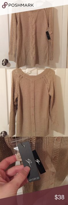 Fall into this Sweater NWT. Size small. Perfect for fall. Button details up back but does not actually button. Sweaters