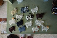 """From the blog Punkin's Patch ~ """"Deck The Wool House"""", December, 2009 ~ sheep ornaments."""