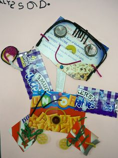 Self Portraits with recycled materials from home.