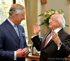 The Prince of Wales welcomes President Higgins 8th April 2014