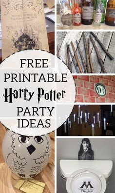 DIY Hogwarts party decorations and free printables for Potterheads and muggles. Harry Potter party ideas for easy decor. Throw an amazing Harry Potter birthday party like you are a Wizard from Hogwarts. Baby Harry Potter, Baby Shower Harry Potter, Harry Potter Enfants, Harry Potter Motto Party, Harry Potter Fiesta, Harry Potter Thema, Classe Harry Potter, Cumpleaños Harry Potter, Harry Potter Halloween Party
