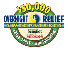 Senokot Overnight Relief Sweepstakes: enter daily for a chance to win prizes