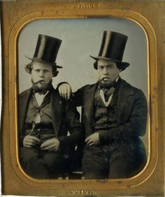 Guys w/ Cigars, Top Daguerreotype by Everett/Utica-not ambrotype-tintype-cdv Antique Photos, Old Photos, Blitz Kids, Old Photographs, Daguerreotype, Edwardian Era, Mug Shots, Vintage Photography, Rogues