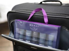 This travel set from Monat is currently on sale for just 4 days only (ends 7/23/17) or until they run out! This is one of the most requested items and the company is offering it this weekend only for just $15 when you purchase a system! Enroll as a VIP to save 15%! Includes:  *Refinish Control Hair Spray *Intense Repair Shampoo *Intense Repair Conditioner *Replenish Masque  *Blow Out Cream *Free Polka Dot Headband.