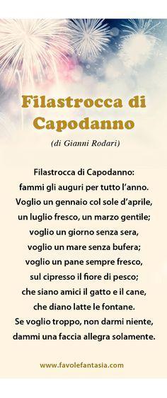Capodanno_Gianni-Rodari. Middle Childhood, Cogito Ergo Sum, Italian Lessons, Italian Words, Italian Language, Learning Italian, Reading Material, Months In A Year, Primary School