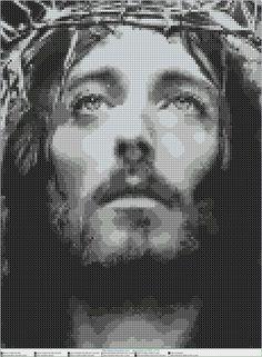 jesus cristo EN PUNTO DE CRUZ, Cross stitch patterns