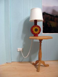Hard wiring table lamps: tutorial is for lighted lamp with a more realistic look of an electrical outlet ..this would be a good detail even if the lamp is non- lighted
