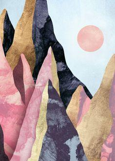42 Ideas desert landscape art inspiration for 2019 Art Inspo, Kunst Inspo, Inspiration Art, Art And Illustration, Landscape Illustration, Abstract Landscape, Landscape Paintings, Desert Landscape, Landscape Design