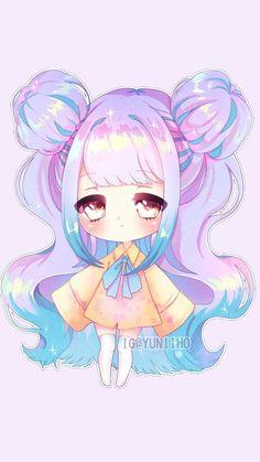 ideas baby girl illustration anime art for 2019 Dibujos Anime Chibi, Cute Anime Chibi, Kawaii Chibi, Anime Girl Cute, Kawaii Anime Girl, Chibi Girl Drawings, Cartoon Drawings, Chibi Drawing, Arte Do Kawaii