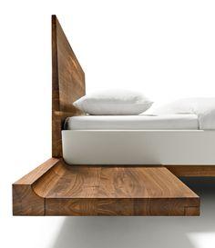 Solid #wood #bed RILETTO by TEAM 7 Natürlich Wohnen | #design Kai Stania @TEAM 7 Natürlich Wohnen GmbH