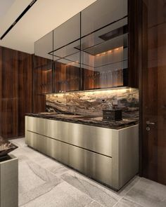 Enhance Your Senses With Luxury Home Decor Galley Kitchen Design, Galley Kitchen Remodel, Luxury Kitchen Design, Kitchen Room Design, Home Room Design, Home Decor Kitchen, Interior Design Kitchen, Kitchen Designs, Painel Tv Sala Grande