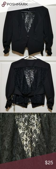 NWT IZ Byer Lace Back Blazer Brand New with Tags. IZ Byer Black Lace Bck Blazer.  Size small.  In new condition with tags still attached. Iz Byer Jackets & Coats Blazers