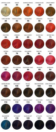 Adore hair color chart | Colorful Hair | Pinterest | Colour chart ...