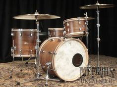 C Custom Bop Drum Set - Walnut/Poplar/Walnut w/ Wood Hoops