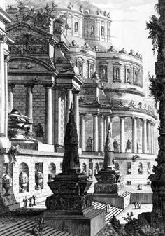 Giovanni Battista Piranesi, Imperial Mausoleum, 1750 www.artexperiencenyc.com