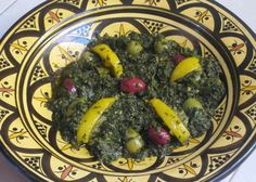 Moroccan Spinach Salad with Preserved Lemon and Olives