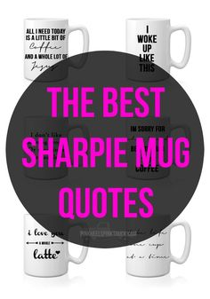 Wanting to make some super awesome gifts for your friends or family? How about a DIY Sharpie Mug? I've got a tutorial & some of the BEST quotes to use!