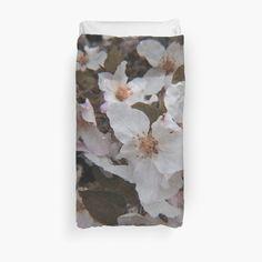 White Springs, College Dorm Bedding, Spring Blossom, Duvet Insert, Floral Tie, Duvet Covers, Bedroom Decor, Prints, Cotton