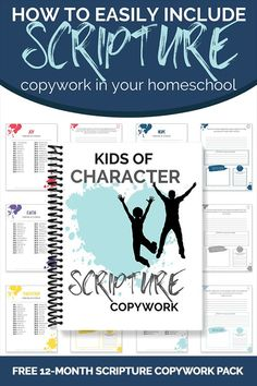 Using a resource like the FREE Kids of Character Scripture Copywork pack will help you easily map out scriptures to do on a daily basis. #homeschool #copywork #scripture Faith Scripture, Scripture Reading, Printable Scripture, Free Homeschool Curriculum, Homeschooling, Bible Resources, Bible Study For Kids, Free Printables, How To Memorize Things