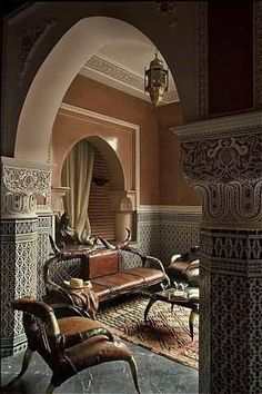 Check Out 43 Charming Moroccan Living Room Design Ideas. Today we'll talk about Moroccan or Morocco-inspired living rooms which are the best examples of the Eastern style. Moroccan Design, Moroccan Decor, Moroccan Style, Tuscan Decor, Paris Living Rooms, Living Room Interior, Living Room Decor, Mamounia Marrakech, Marrakesh