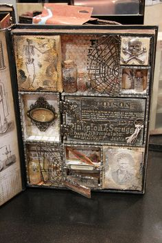 Tim Holtz CHA Summer 2013 - Day 1 - shadow box with open cover (image 2 of 2)