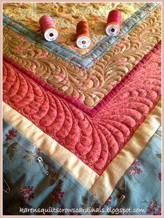 Karen's Quilts, Crows and Cardinals: 2014 Finish