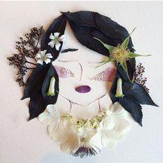 Foxglove freckles, a lacecap collar, and black elder hair - Flora Forager - Bridget Beth Collins - floraforager.com