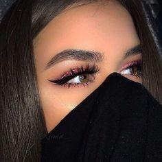 Make-up, eyes and eyebrows image Makeup On Fleek, Kiss Makeup, Cute Makeup, Pretty Makeup, Beauty Makeup, Hair Beauty, Makeup Eyes, Makeup Style, Makeup Black