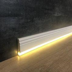 Home lighting design - Der Megatrend LED Sockelleisten Led Light Design, Home Lighting Design, Ceiling Light Design, Interior Lighting, Luxury Interior, Cove Lighting, Indirect Lighting, Strip Lighting, Hidden Lighting