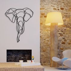 Elephant Trophy wooden sign is a sustainable home design piece by Antoine…