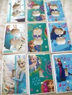 FROZEN - Custom Decorated Switchplate Covers - Kids Room - NEW #LEVITONSWITCHCOVERS